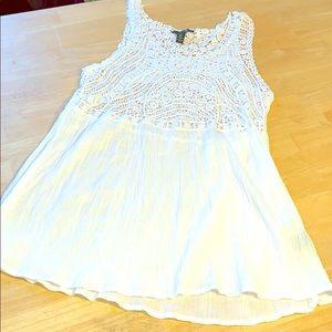 LRL Lauren Jeans Co White Cotton Tank